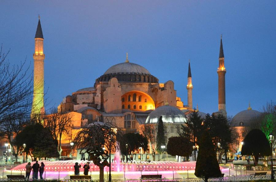 Hagia Sophia in Istanbul is one f the monuments in Europe