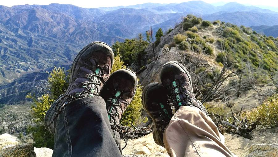 hiking shoes to pack