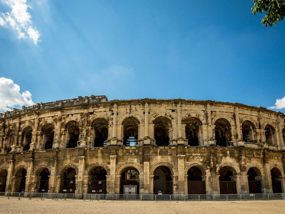 Arena of Nîmes is one of the famous French monuments