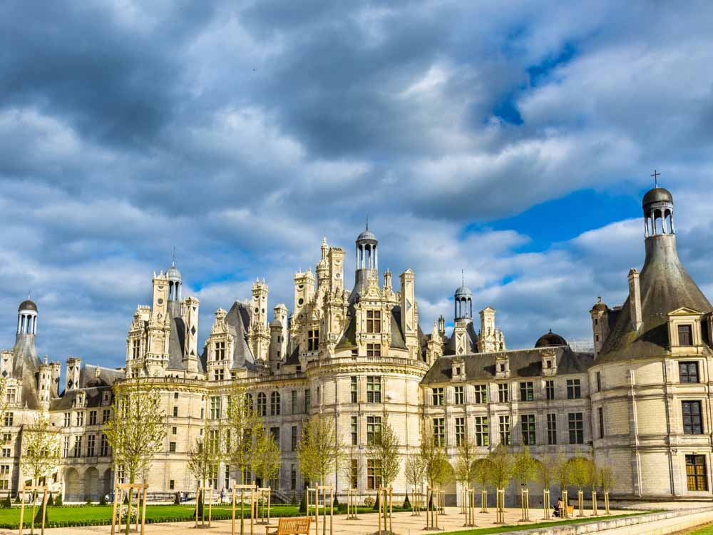 Chateau de Chambord is one of the famous monuments in France