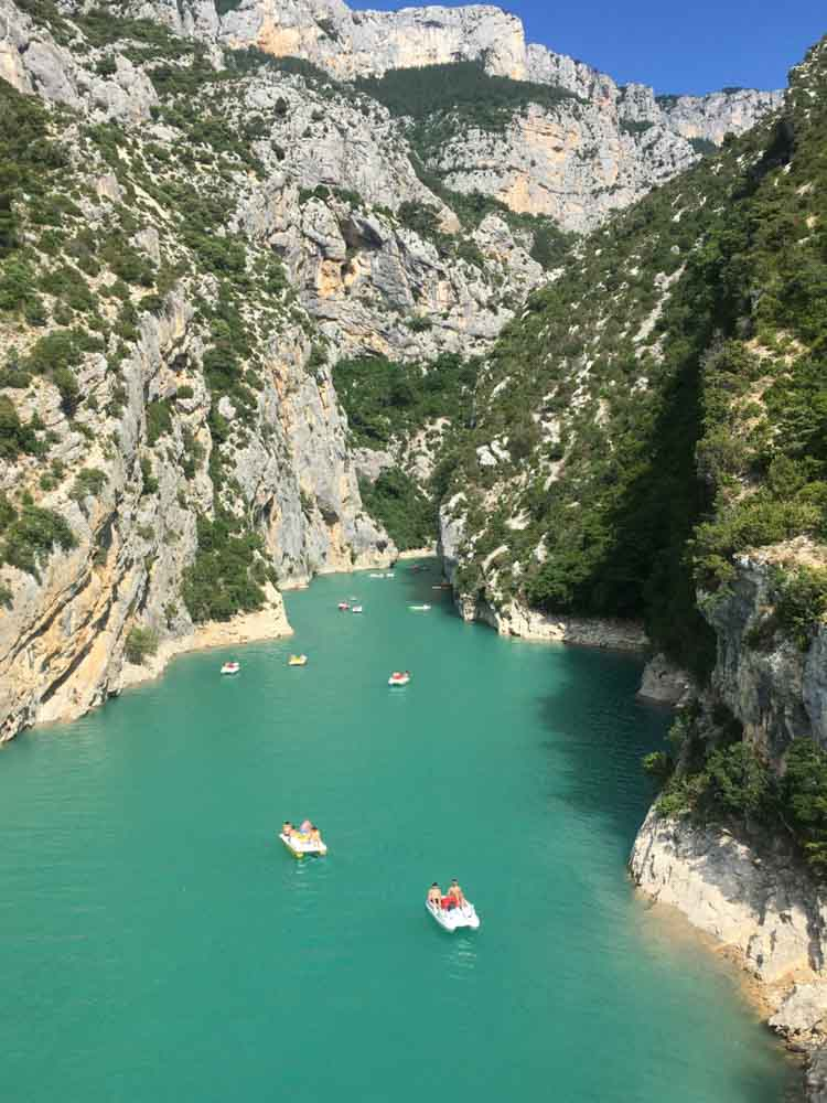 Verdon Gorge is one of the famous natural landmarks in France