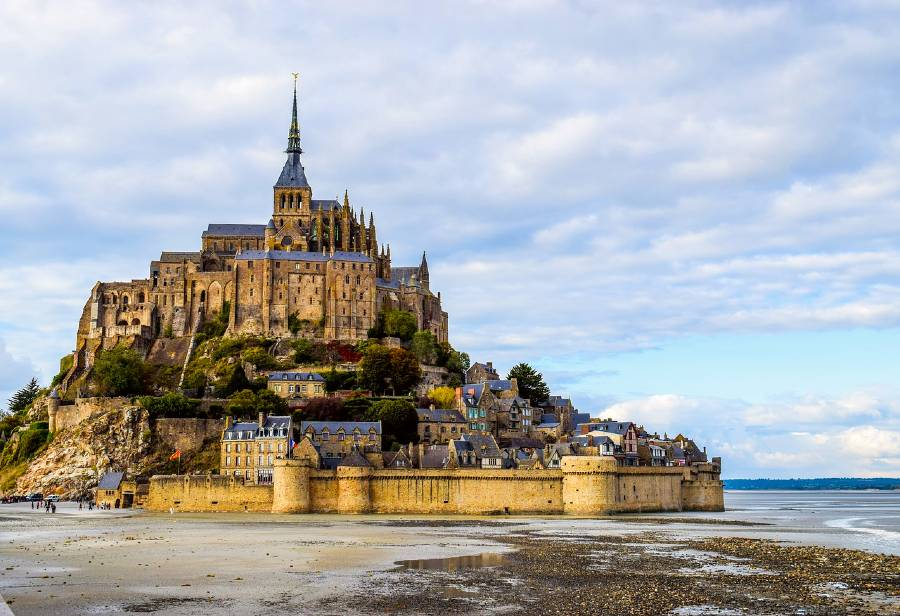 Mont Saint- Michel is one of the famous monuments in France