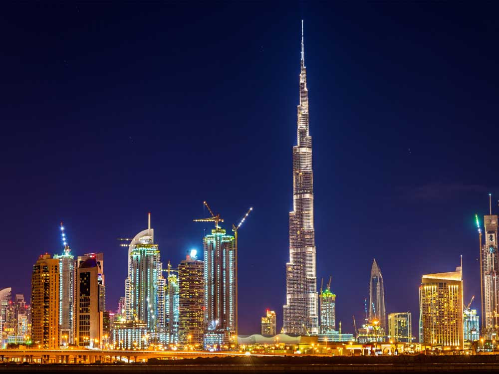 Burj Khalifa in United Arab Emirates is one of the famous buildings in Asia