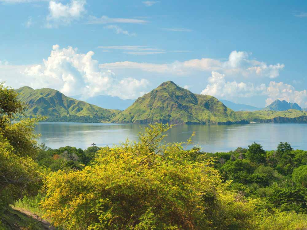 Komodo Island in Indonesia is one of the natural landmarks in Asia