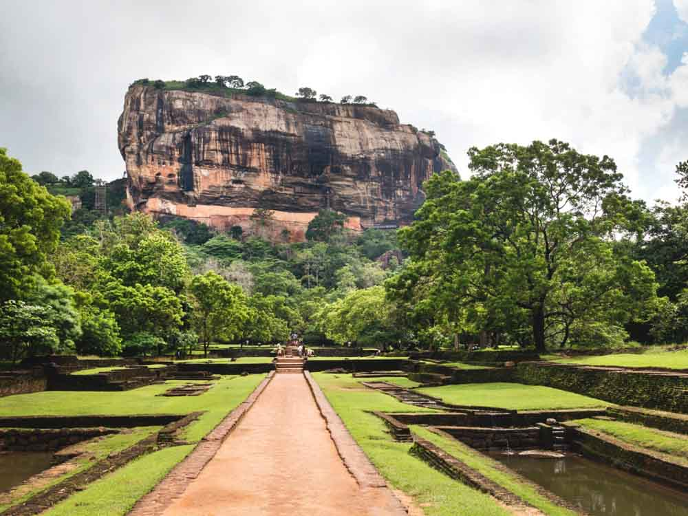 Sigiriya in Sri Lanka is a famous landmark in Asia