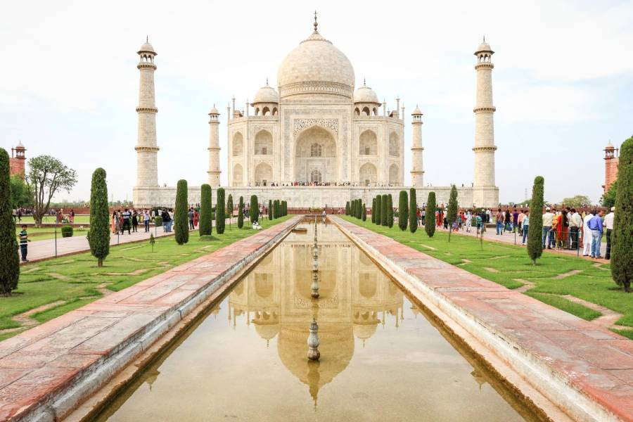 Taj Mahal, India is one of the famous landmarks in Asia