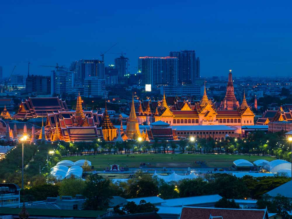 The Grand Palace in Thailand is one of the famous landmarks in Asia