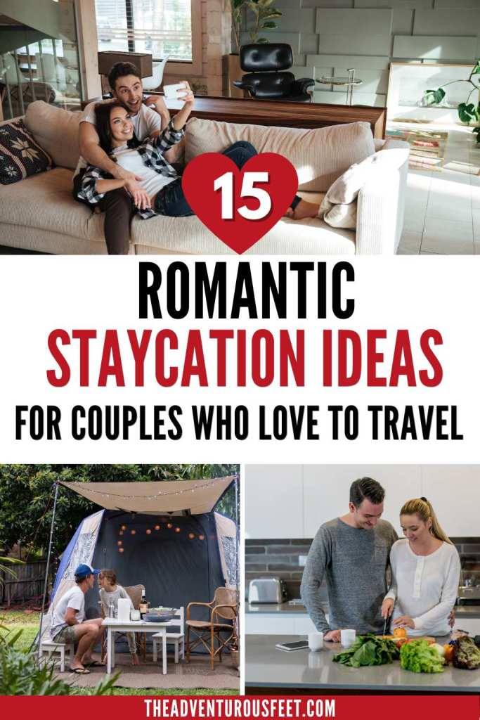Are you looking for romantic things to do at home with your loved one? Here are the most romantic staycation ideas for couples who love to travel that will make you fall deeper in love with each other. Whether it is camping in your backyard or enjoying a spa day, these romantic staycation ideas at home will keep the love burning between you two. So what are you waiting for, check out these romantic date night ideas at home for an incredible time. #romanticdestinations #staycationideas