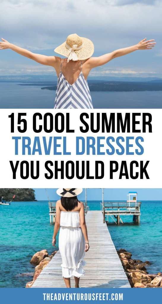 Planning to go for a summer vacation but not sure which clothes to pack? Here the the cutest summer travel dresses that will make you look chic.  best summer travel dresses  best travel dresses summer  best summer dresses for travel  travel dresses in Europe summer  wrinkle free summer travel dresses   best casual summer travel dresses  short summer dresses   beach summer dresses  best dresses for summer vacation  summer vacation dresses  casual summer vacation dresses   maxi dresses for travel