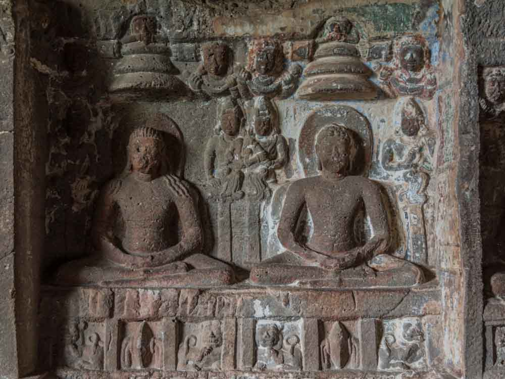 Ajanta & Ellora Caves are som of the top Indian landmarks