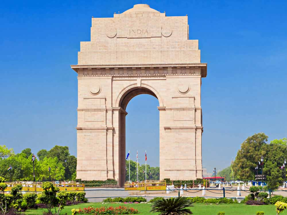 India Gate is one of the Indian famous monuments