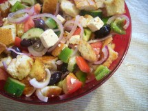 Ina Garten Greek Panzanella Salad