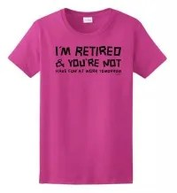 happy retirement tshirt