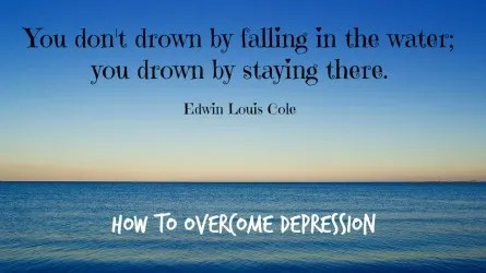 how can you get over depression