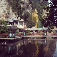 #100Days Photo 29: The Small Pond and the Batu Caves, Selangor, Malaysia