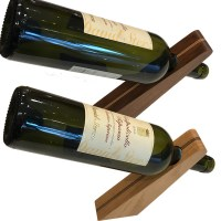 Balanced Wood Wine Bottle Holder