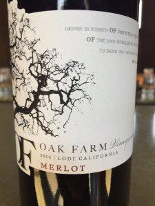 2014 Oak Farm Vineyard Lodi Merlot