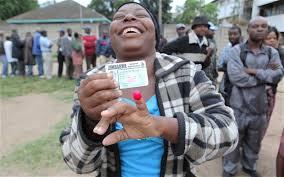 Voting in Zimbabwe