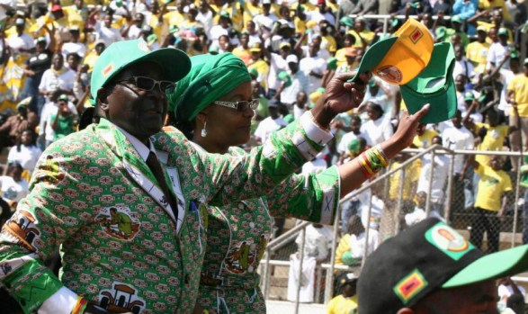Mugabe Political Rally in Harare