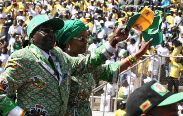 Mugabe Political Rally in Harare