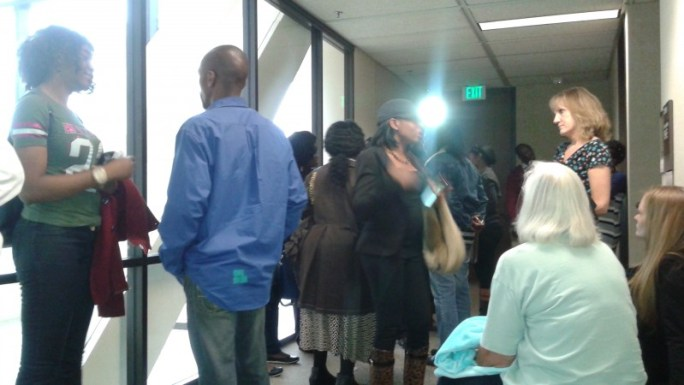 Attendees at Collins' Court Hearing