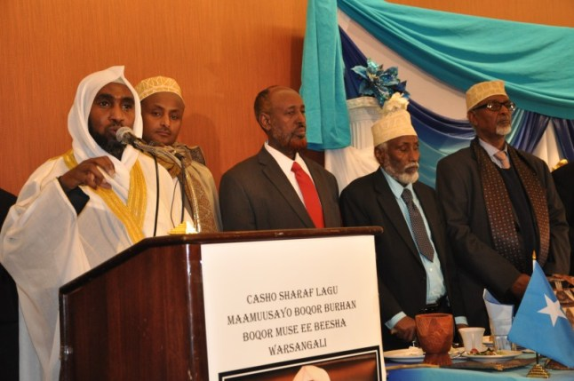 King Burhan Musa speaks to Somalis in Minneapolis. Photo: The AfricaPaper.