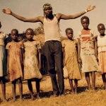Kony with children.