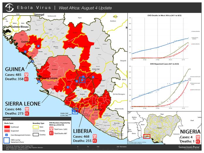 Ebola Epidemic Map Wide