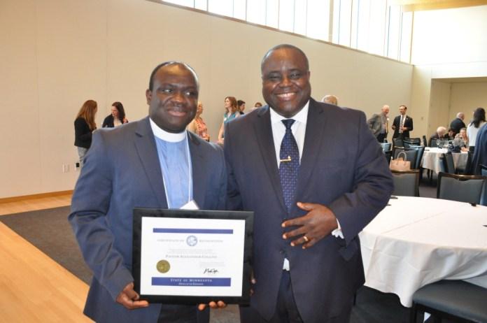 Pastor Collins and Bishop Harding Smith
