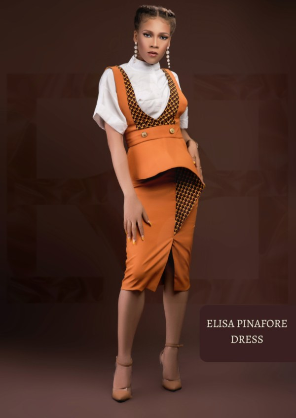The Afrocentrics - ELISA PINAFORE DRESS