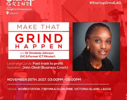 STARTUP GRIND LAGOS HOSTS OMOBOLA JOHNSON