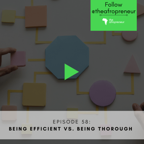 Ep58: Being Efficient vs. Being Thorough