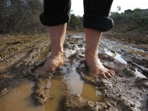 Barefoot Hiking Mud Girls