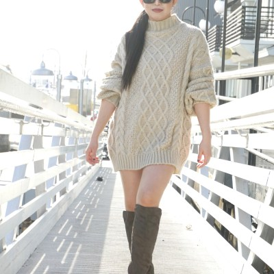 Good Night Macaroon Cable Knit sweater