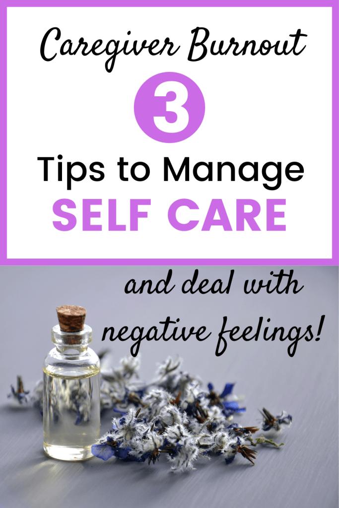caregiver burnout self care
