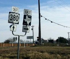 Road signs 380 and 720