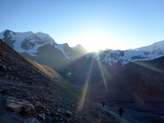 Sunrise Thorong La Pass Annapurna Circuit Nepal