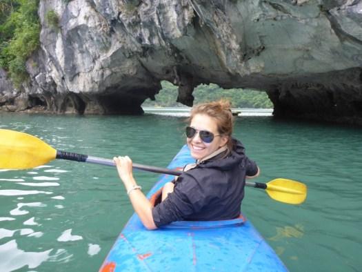 Kayaking Ha Long Bay, Cat Ba Town, Vietnam