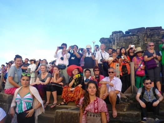 Angkor Wat Sunset crowd