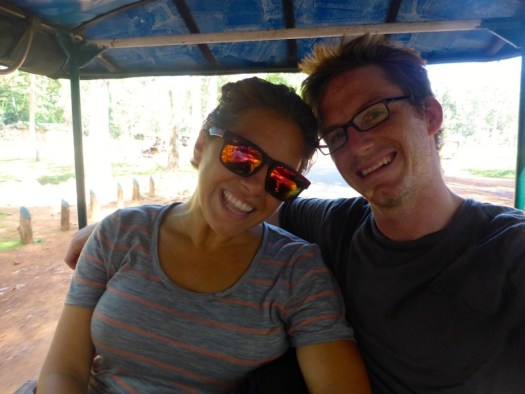 Rick and Liz in a Tuk Tuk