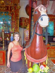 Liz with a Horse
