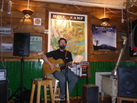 Brad Rocking at Base Camp - Puerto Natales, Chile