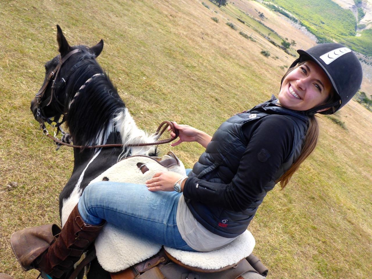 Liz on a Horse