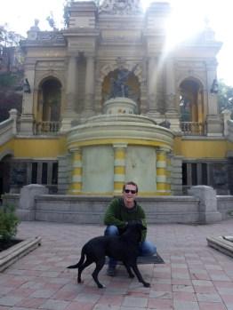 Cerro Santa Lucía, Santiago, Chile with Street Dog