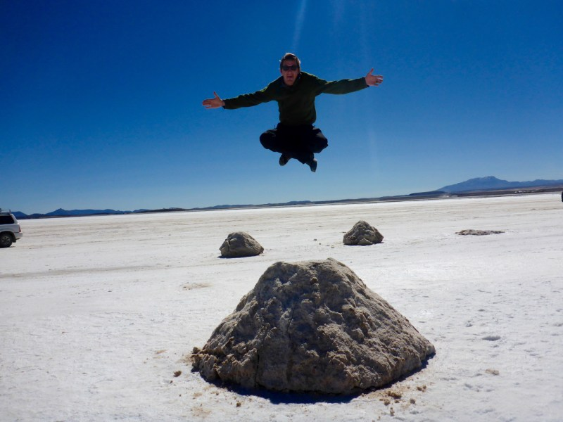 Levitating Uyuni Slat Flats, Bolivia
