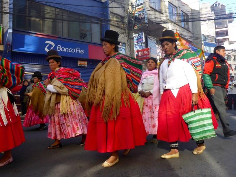Bolvian women in hats