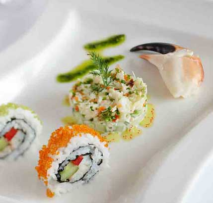 Knieper-Sushi im Rickmers Galerie Restaurant, Helgoland