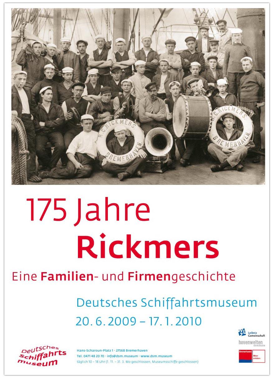 Eine Ausstellung im Schiffahrtsmuseum Bremerhaven - 175 Jahre Rickmers