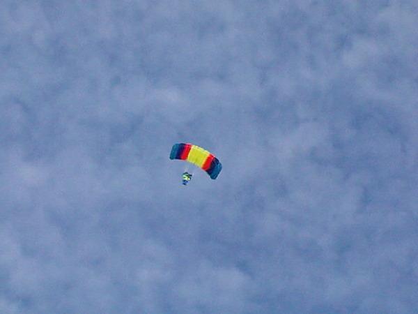 Fallschirm-Tandem-Sprung Helgoland 2009