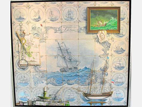 Hans Peter Wirsing stammt aus Glücksstadt - in der Hochseegalerie auf Helgoland finden sich Zeichnungen, Drucke und Lithographien